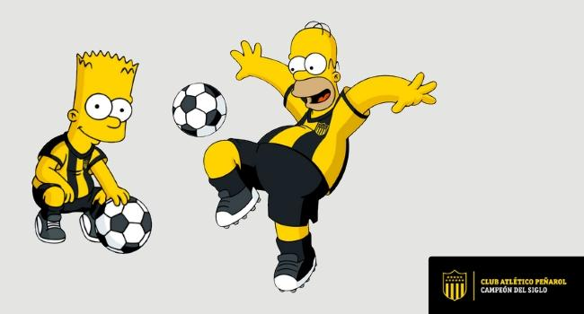 Homero y Bart Simpson se suman a Peñarol