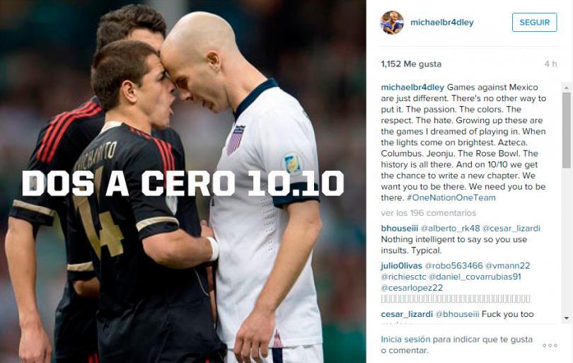 Bradley calienta el partido contra México