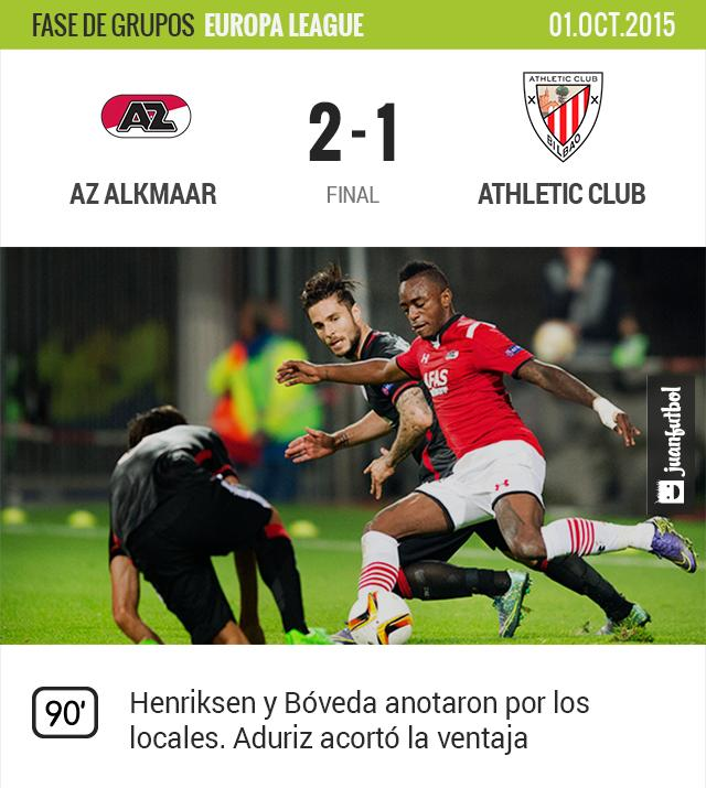AZ Alkmaar vence 2-1 a Athletic Club en la segunda jornada de Europa League