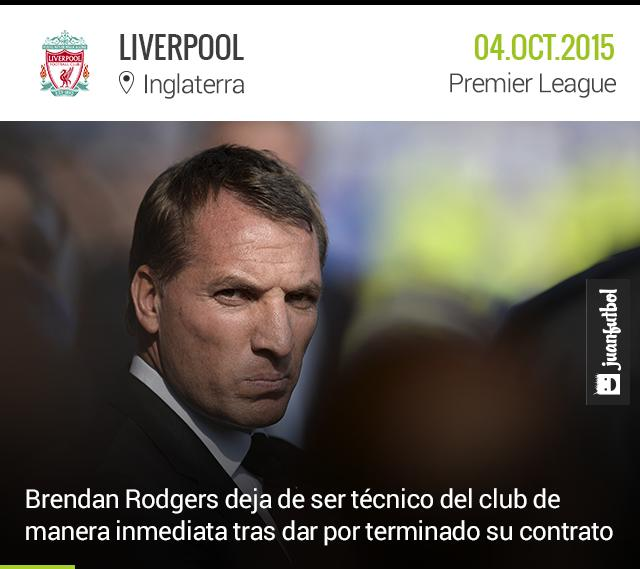 Rodgers deja de ser técnico del Liverpool