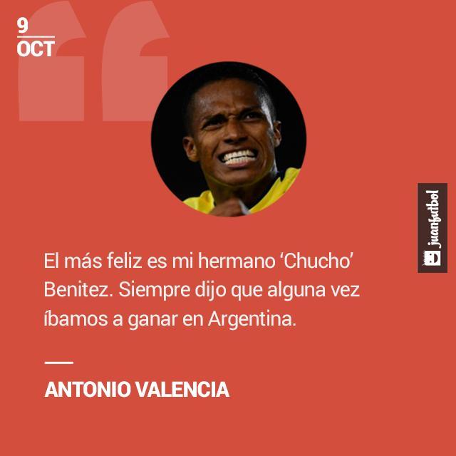 Valencia recuerda al 'Chucho' Benítez tras la victoria en Argentina.