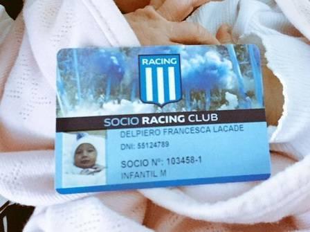 Un hincha de Racing bautizó a su hija con el apodo de su equipo