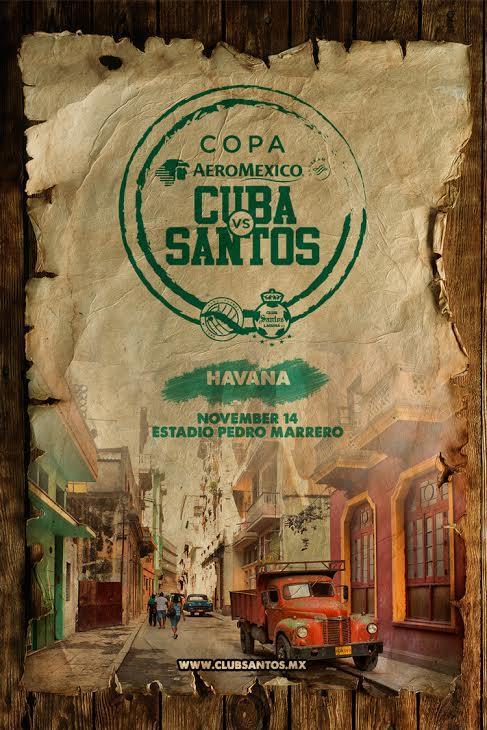 Santos será el primer club mexicano en jugar en territorio cubano