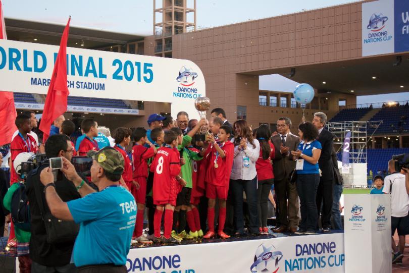 Marruecos festejando el título
