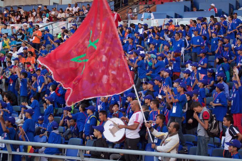 Marruecos durante la final en Marrakech contra México.