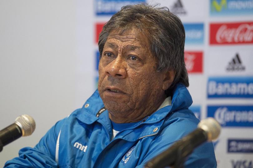 Ramón Maradiaga en conferencia de prensa en el Estadio Azteca