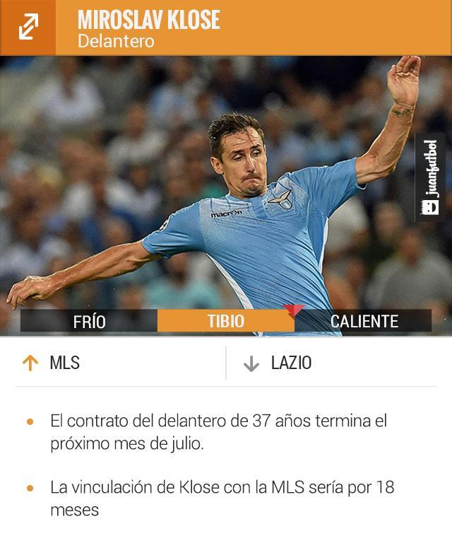 Miroslav Klose podría llegar a la MLS el próximo verano