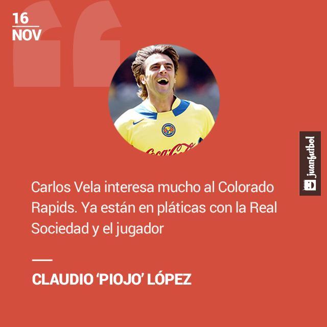 El 'Piojo' López asegura que Vela ya negocia para irse a la MLS