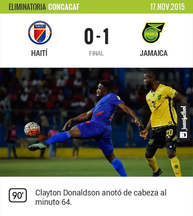 Jamaica gana de visitante ante Haití