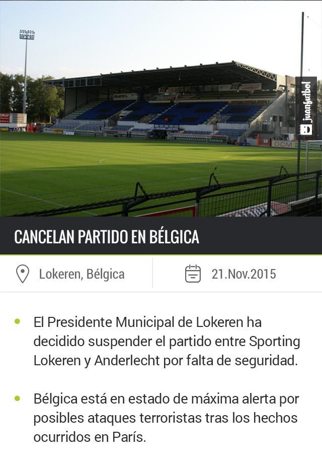 Se cancela el Sporting Lokeren vs Anderlecht de la liga belga