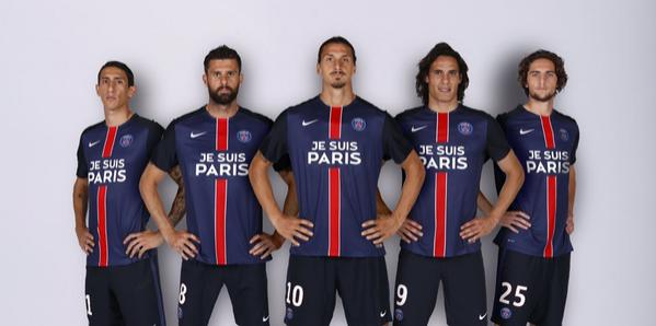"""PSG cambia al patrocinador de su camiseta por """"Je Suis Paris"""""""