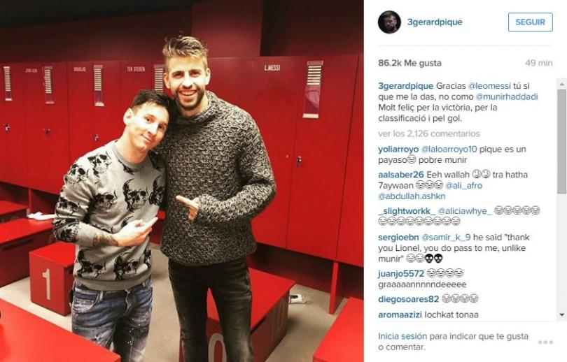 Messi y Piqué.