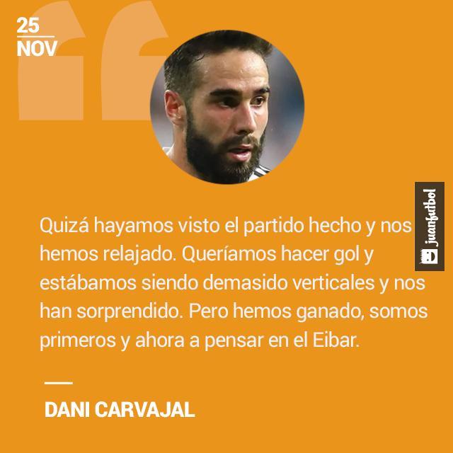 Dani Carvajal acepta falta de concentración ante el Shakhtar