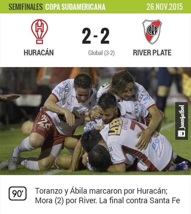 Huracán 2-2 River Plate