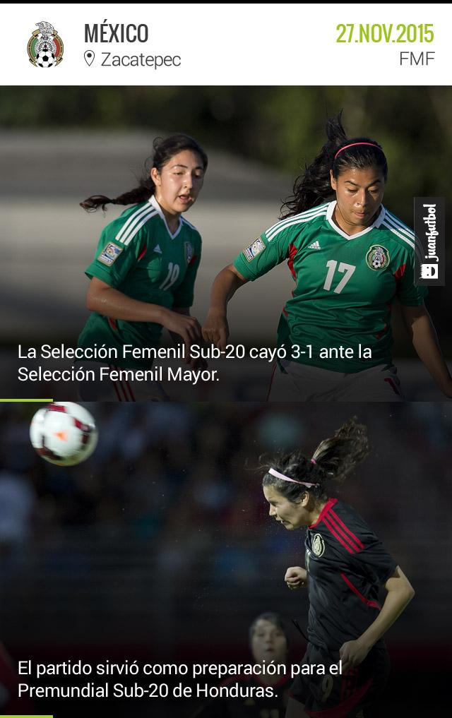 Tri Femenil 3-1 Tri Femenil Sub-20