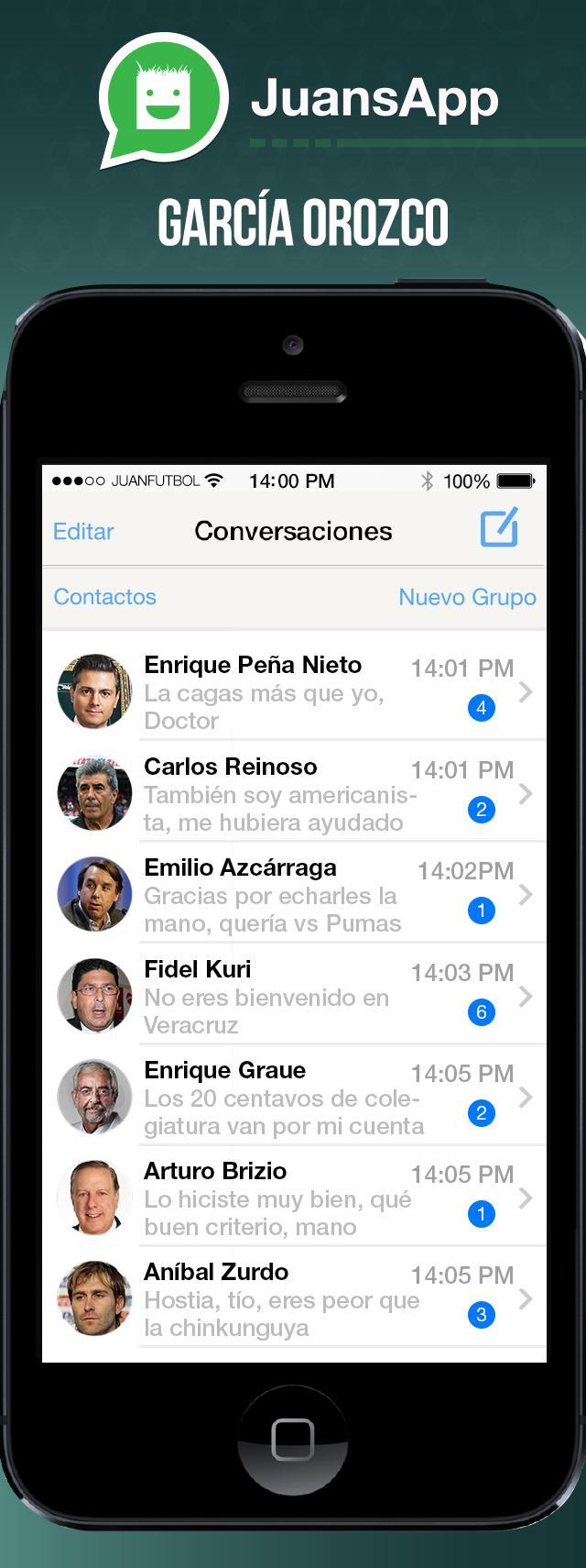El celular de García Orozco.