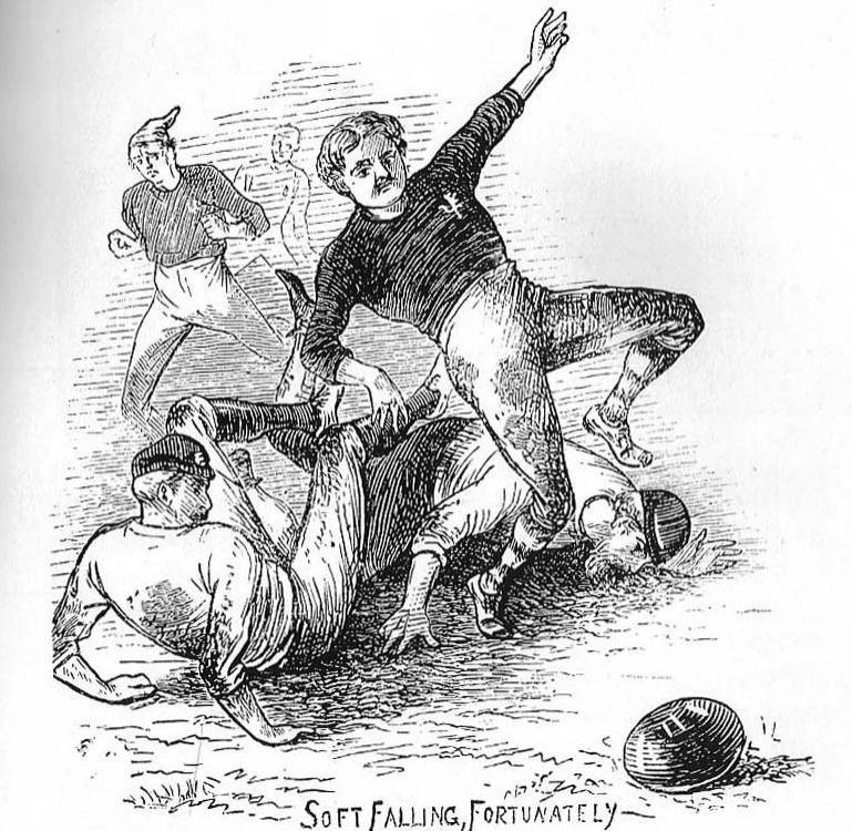 Ilustración del Escocia vs. Inglaterra de 1872