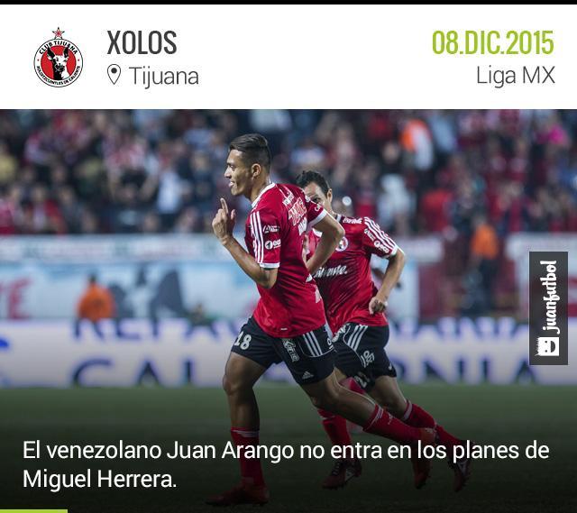 Juan Arango saldría de Xolos