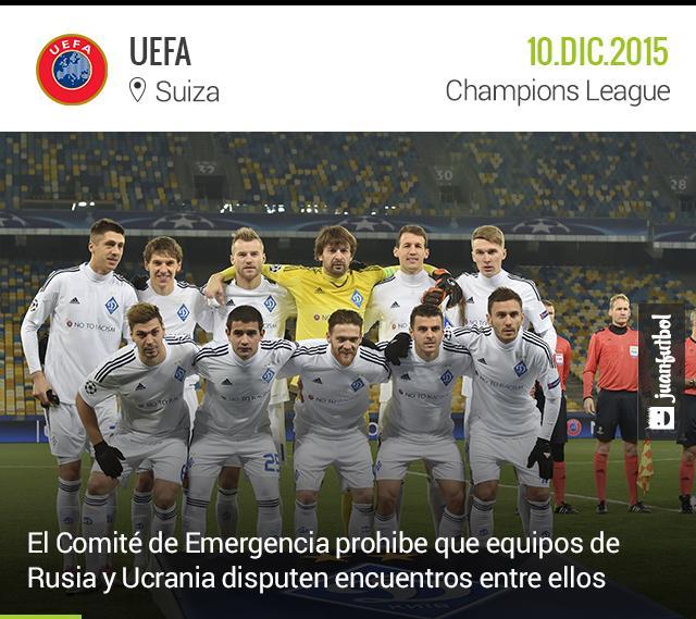 Dinamo de Kiev y Zenit no podrán enfrentarse por los conflictos políticos