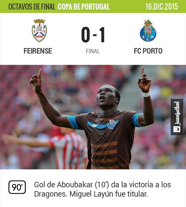 Aboubakar anota el gol de la victoria para el Porto
