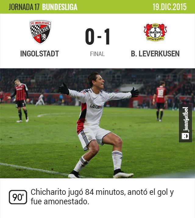 Chicharito da la victoria al Bayer Leverkusen.