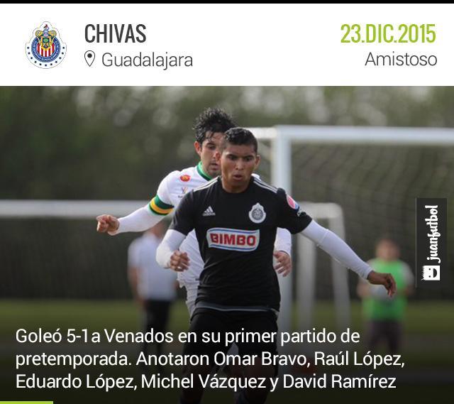 Chivas golea a Venados de Mérida en su primer partido de pretemporada.