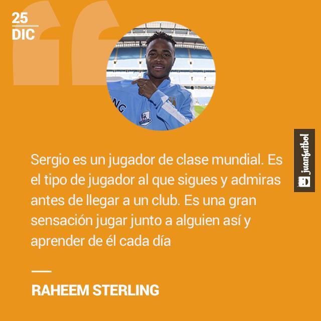 """Sterling sobre Agüero: """"Es el tipo de jugador que admiras"""""""