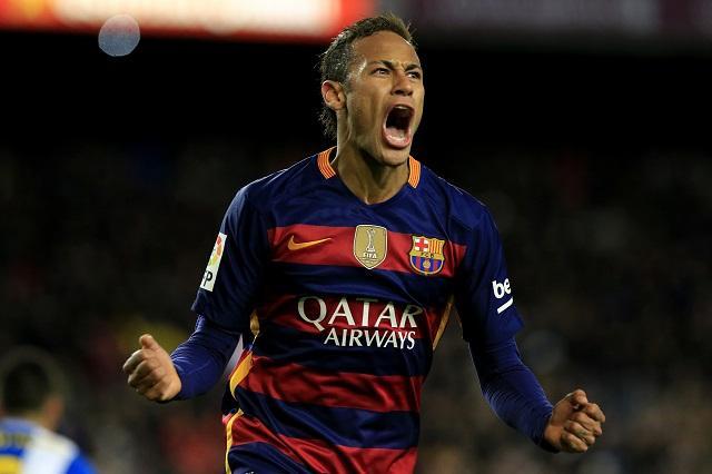 Neymar en partido con el Barcelona