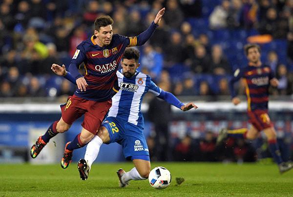 Messi y Álvaro.