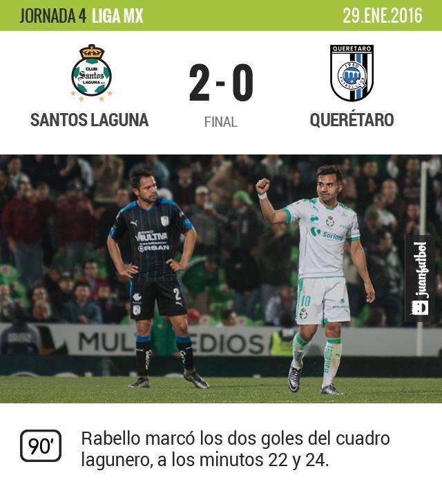 Rabello marcó los dos tantos de Santos