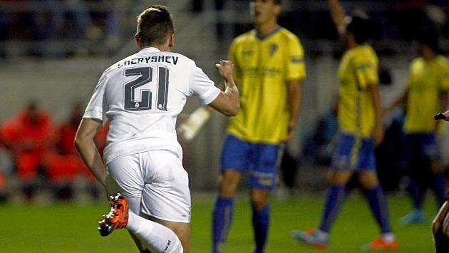 Denis Cheryshev celebra su gol ante el Cádiz
