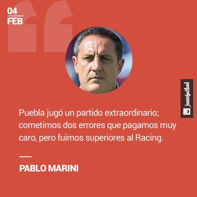Para Marini, Puebla fue muy superior