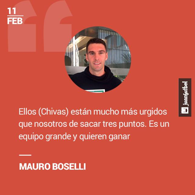 Boselli afirma que Chivas está urgido de puntos para salvarse del descenso