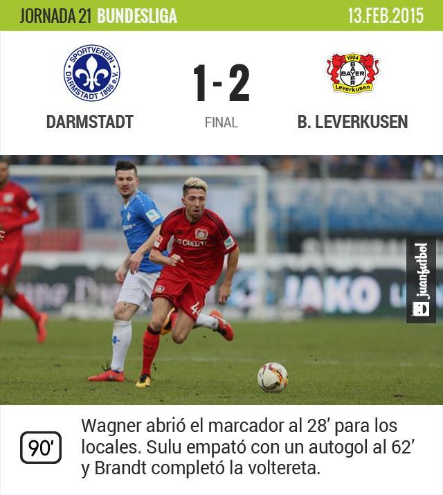 Leverkusen vence al Darmstadt sin Chicharito