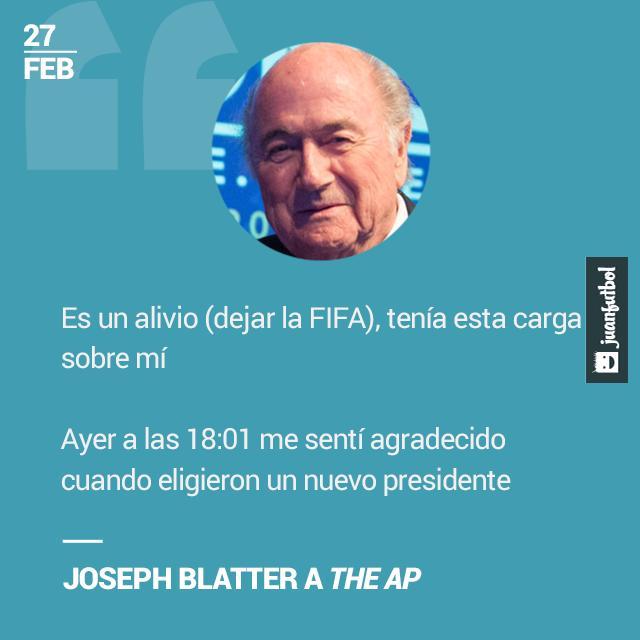 Blatter dejó de ser Presidente de la FIFA.