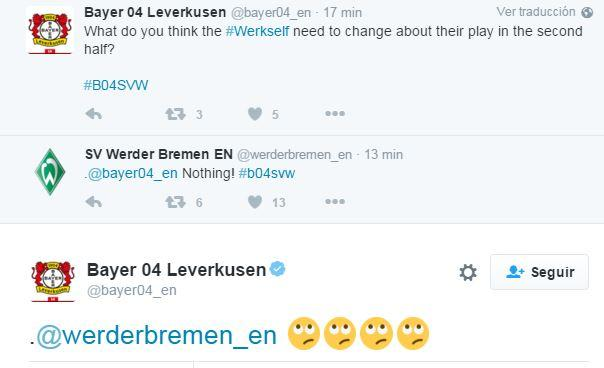 La cuenta de Bremen trolleó a la del Leverkusen