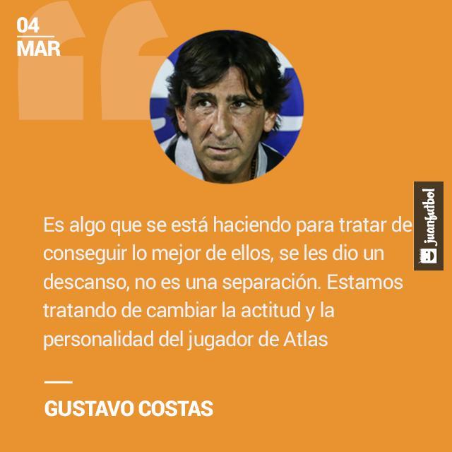 Gustavo Costas asegura que todo es por el bien del equipo.