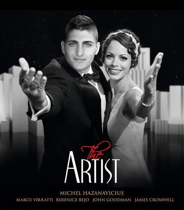 La película El Artista y el montaje con Marco Verratti