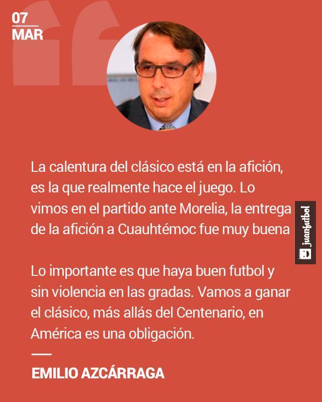 Emilio Azcárraga asegura que en América es una obligación ganar el Clásico