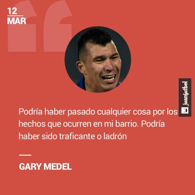 Gary Medel se crió al norte de Santiago de Chile.