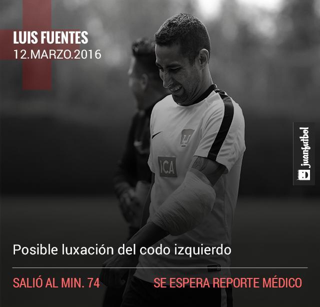 Luis Fuentes sale lesionado