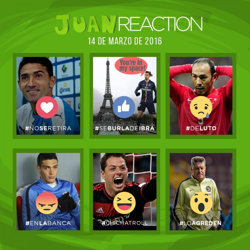 reacciones del día