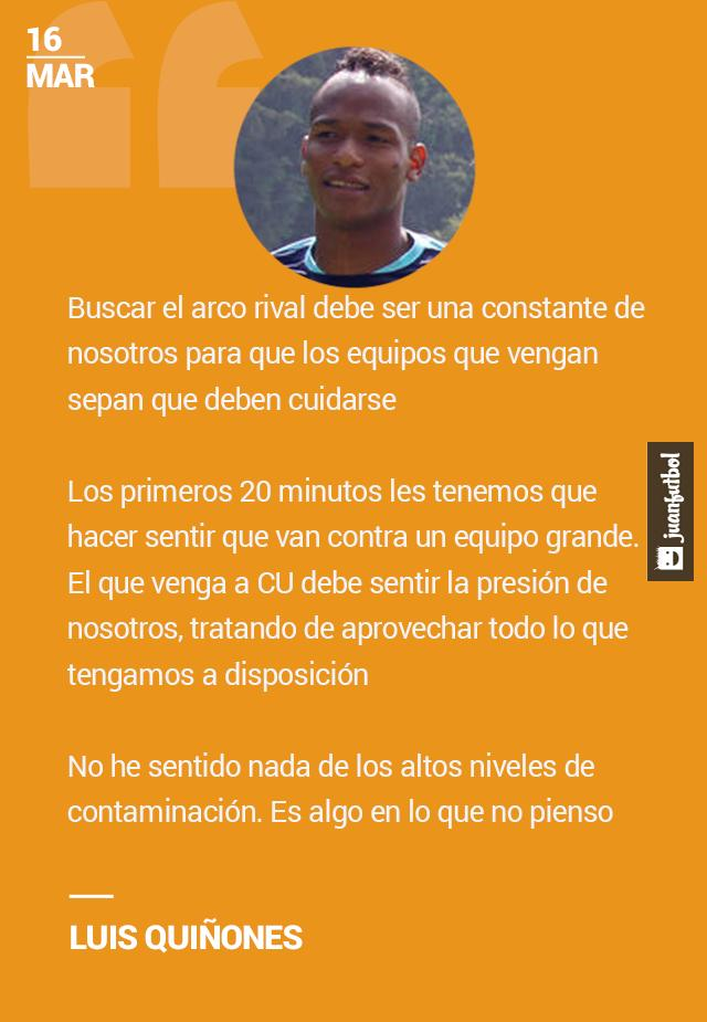 A Luis Quiñones no le ha afectado la contaminación.