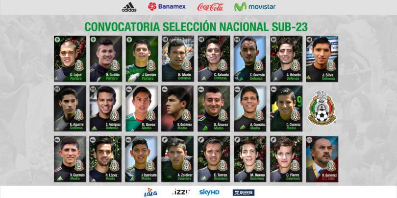 Convocatoria de la Selección Nacional sub-23 para la gira de amistosos de cara a los Olímpicos.