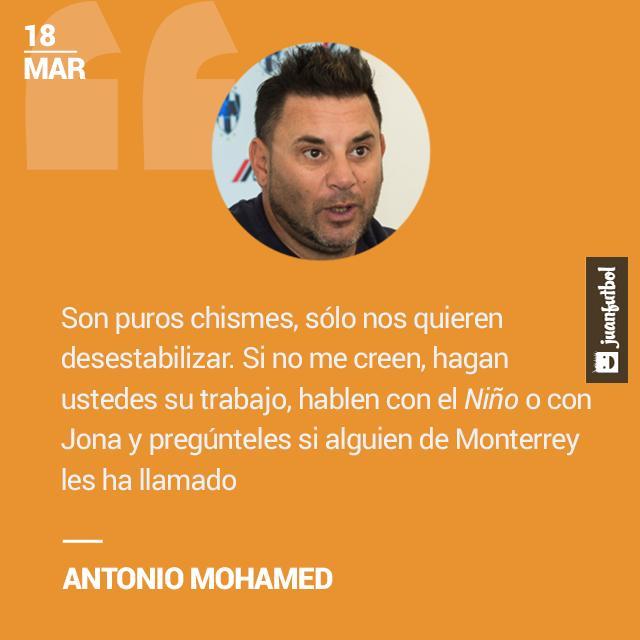 Antonio Mohamed aclaró que nadie de Monterrey habló con Torres o Dos Santos.
