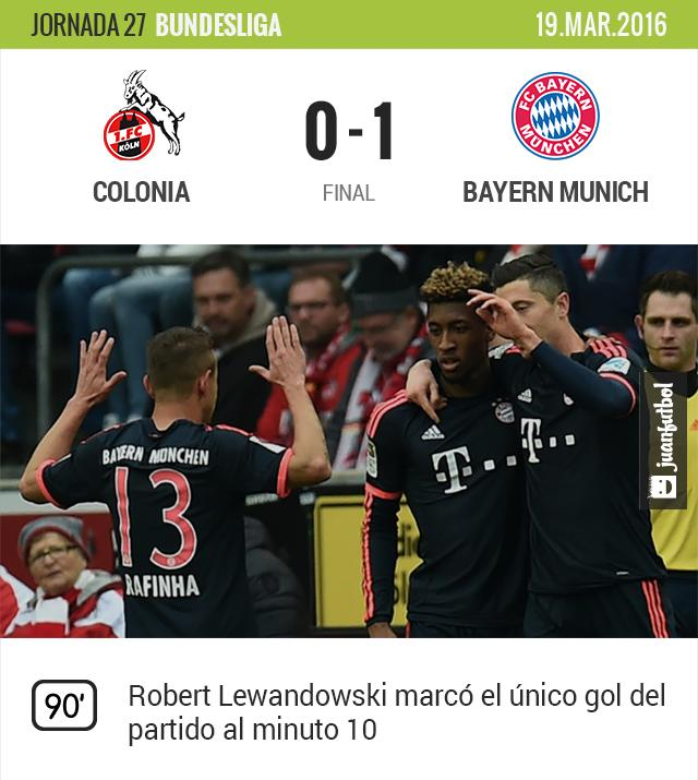 El Bayern Munich sigue intratable en la Bundesliga.