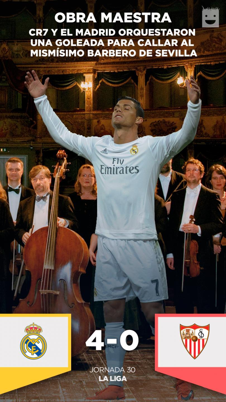 El Real Madrid goleó al Sevila con gran participación de la BBC