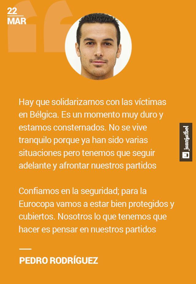 Pedro Rodríguez habló sobre los atentados en Bélgica