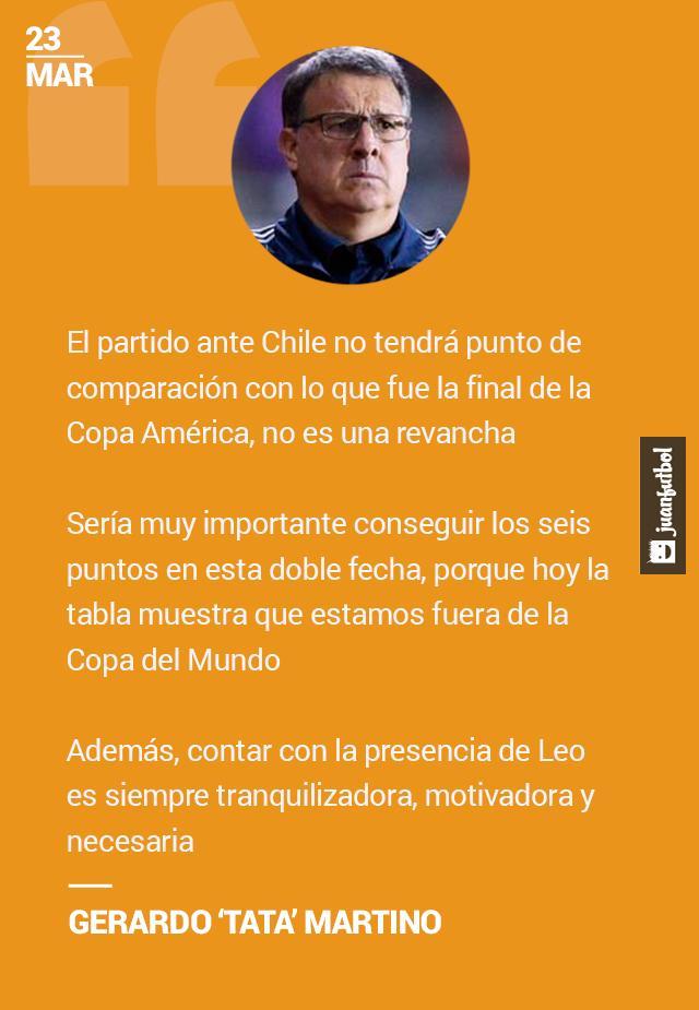 Tata Martino habla del partido ante Chile