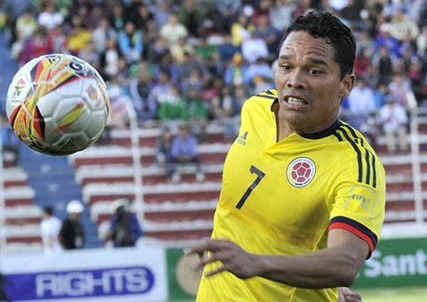 Bacca estaba disputando el Bolivia vs Colombia cuando los ladrones entraron a su casa.